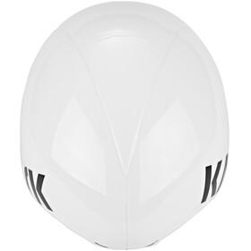 Kask Bambino Pro Kask rowerowy dodatkowo wizjer biały